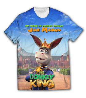 donkey king all over printed t-shirt